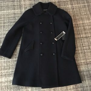Tocca Wool Double Breasted Swing Coat